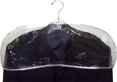 "24"" Clear Plastic Shoulder Cover"